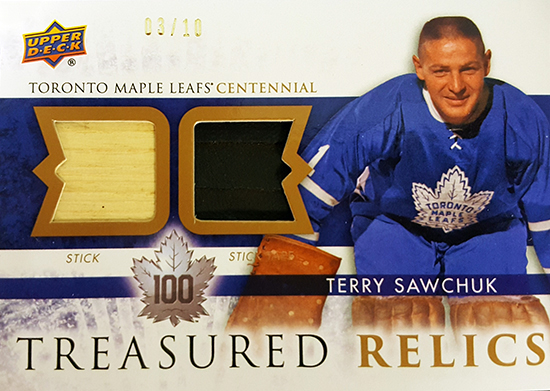 2017-Upper-Deck-Toronto-Maple-Leafs-Centennial-Set-Treasured-Relics-Terry-Sawchuk