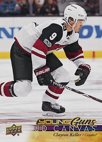 2017-18-NHL-Upper-Deck-Series-One-Young-Guns-Canvas-Clayton-Keller