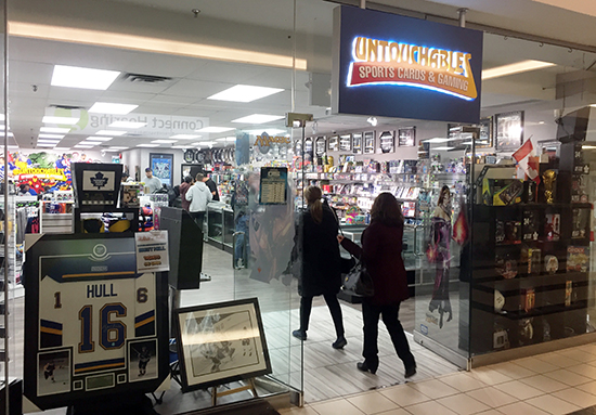 upper-deck-sports-untouchables-gaming-cards-mississauga-milton-featured-retailer-entrance