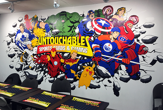 upper-deck-sports-untouchables-gaming-cards-mississauga-milton-featured-retailer-mural
