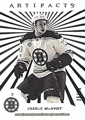 2017-18-Upper-Deck-NHL-Artifacts-White-Aurum-Bounty-Charlie-McAvoy