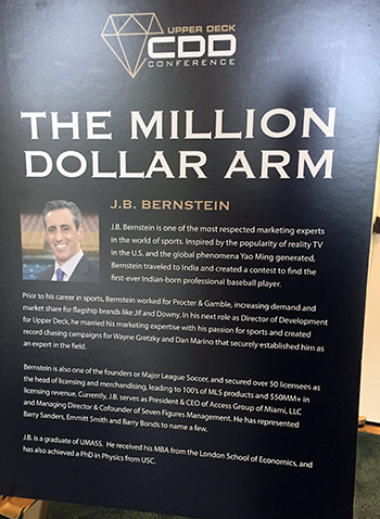 2018-Upper-Deck-Certified-Diamond-Dealer-Conference-Keynote-JB-Bernstein-Million-Dollar-Arm-Bio