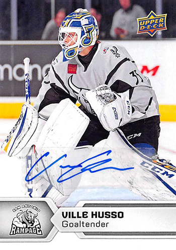 2017-18-Upper-Deck-AHL-Hockey-Trading-Cards-XRC-Autograph-Ville-Husso-San-Antonio-Rampage