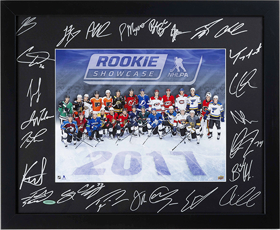 2018-upper-deck-spring-sport-card-memorabilia-expo-case-breaker-prize-nhlpa-rookie-showcase-autograph-framed-photo