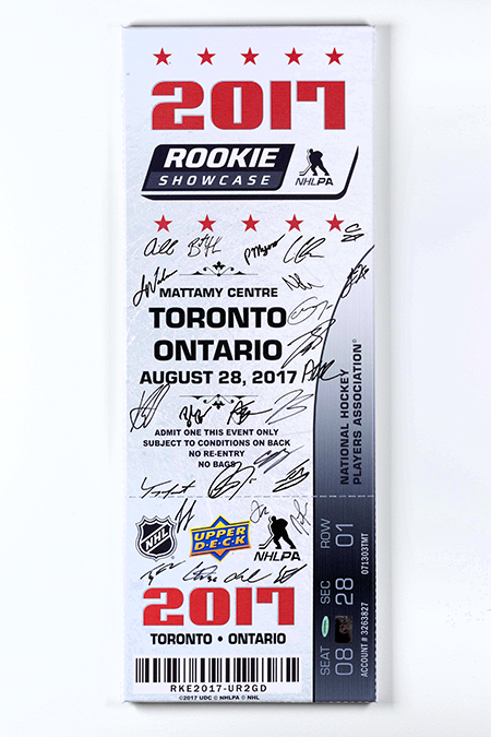 2018-upper-deck-spring-sport-card-memorabilia-expo-case-breaker-prize-nhlpa-rookie-showcase-autograph-ticket