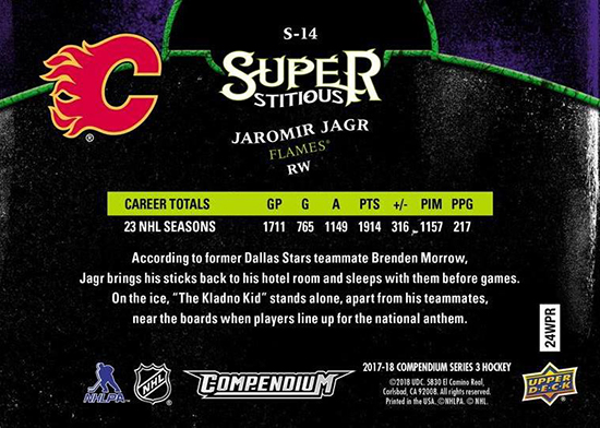 2017-18-Upper-Deck-Compendium-Superstitious-Stuperstition-S14-Jaromir-Jagr-Back
