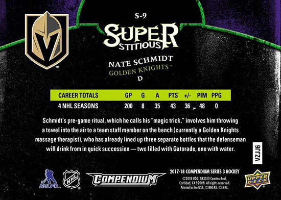 2017-18-Upper-Deck-Compendium-Superstitious-Stuperstition-S9-Nate-Schmidt-Back