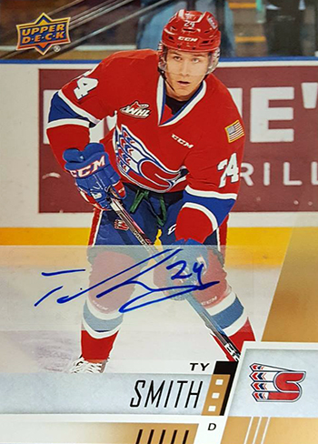 2017-18-upper-deck-chl-hockey-cards-star-rookies-autograph-ty-smith