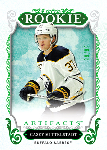 2018-19-upper-deck-nhl-hockey-rookie-card-casey-mittelstadt-artifacts-carryover