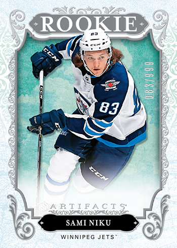 2018-19-upper-deck-nhl-hockey-rookie-card-sami-niku-artifacts-carryover
