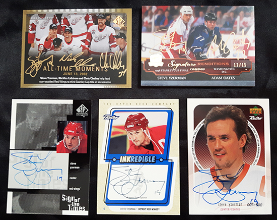 Upper-Deck-Steve-Yzerman-Featured-Collector-Cless-Autograph-Trading-Cards-NHL-Detroit-Red-Wingsjpg
