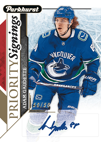 2018-Upper-Deck-Fall-Promo-Packs-Parkhurst-Priority-Signings-Adam-Gaudette
