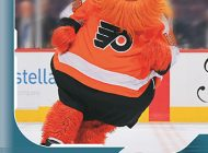 First Look: Philadelphia Flyers Mascot Gritty Scores an Upper Deck Young Guns NHL® Rookie Card
