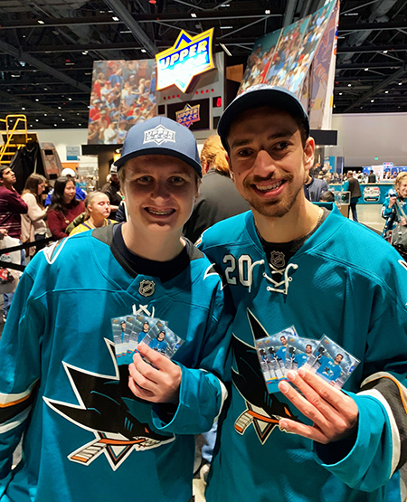 2019-nhl-all-star-fan-fair-upper-deck-make-a-wish-sam-tageson-hayden-bradley-1