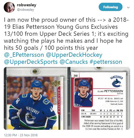 elias-petterson-upper-deck-rookie-on-the-radar-collector-dealer-response-4