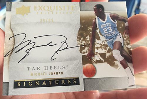 sale retailer 880f9 a94cd Chasing a Michael Jordan Autograph Card from Older Upper ...
