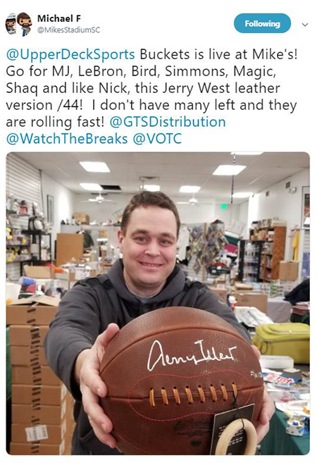 2019-upper-deck-authenticated-buckets-basketball-jerry-west-leatherhead-autograph-ball