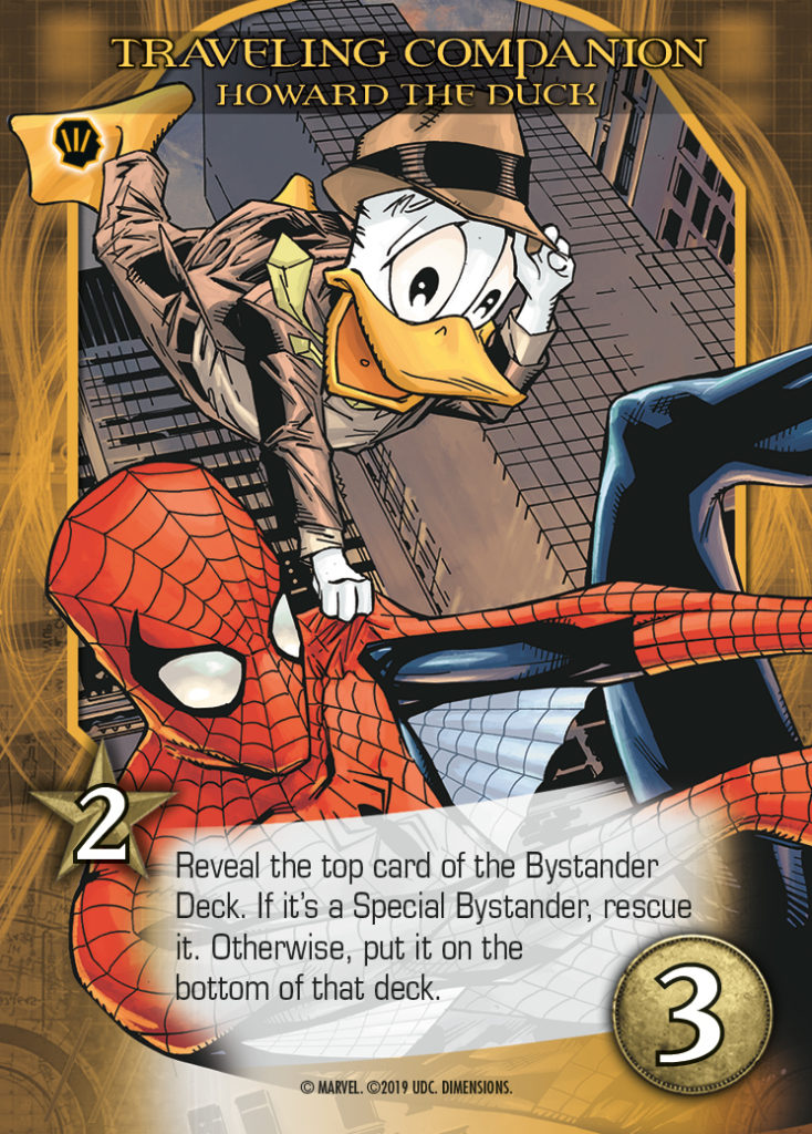 Legendary Dimensions Howard The Duck Common Hero Card