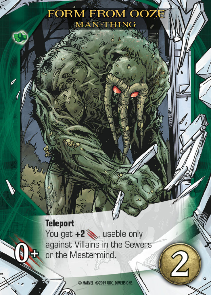Legendary Dimensions Man-Thing Common Hero Card