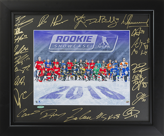 2018 upper deck authenticated uda nhlpa rookie showcase autographed photo