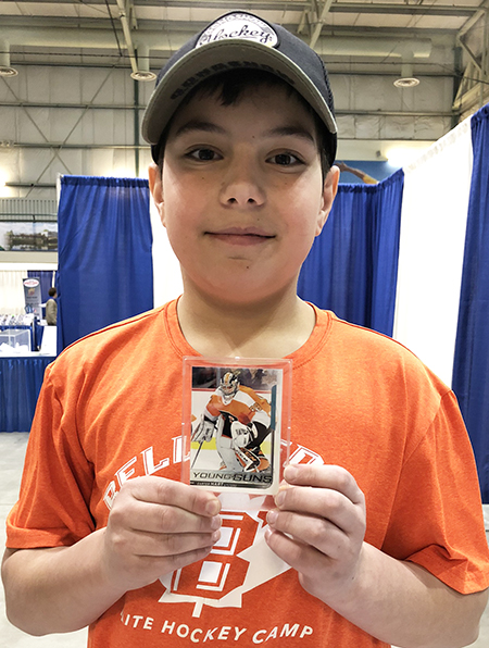 upper deck kids carter hart rookie card