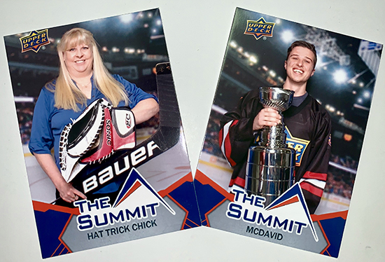 2019 upper deck summit show personalized cards