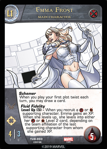 Vs System 2PCG Utopia Battles Main Character Emma Frost Level 1