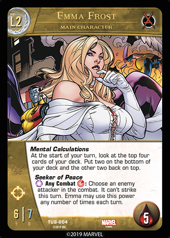 Vs System 2PCG Utopia Battles Main Character Emma Frost Level 2