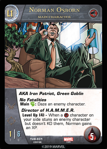 Vs System 2PCG Main Character Norman Osborn Level 1