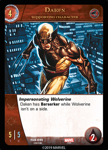 Vs System 2PCG Utopia Battles Supporting Character Daken