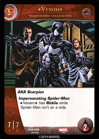 Vs System 2PCG Utopia Battles Supporting Character Venom