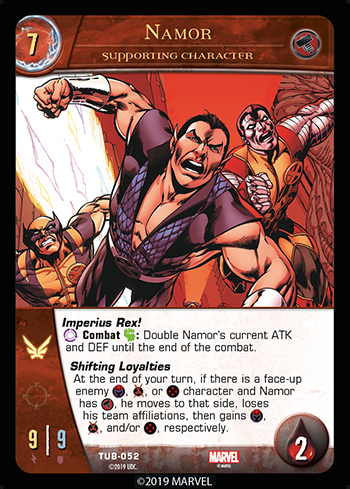 Vs System 2PCG Utopia Battles Supporting Character Namor