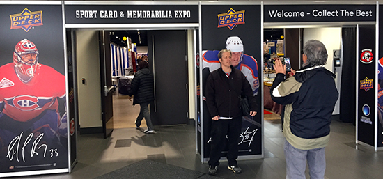 upper deck spring expo entrance treatment trade show
