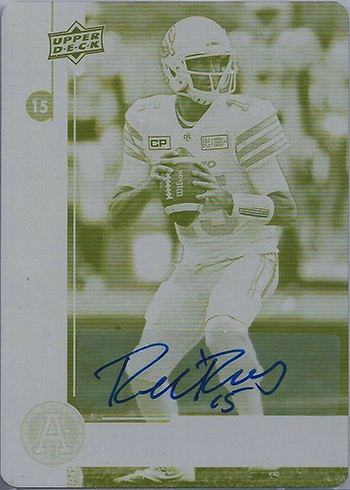 ricky ray autograph printing plate card