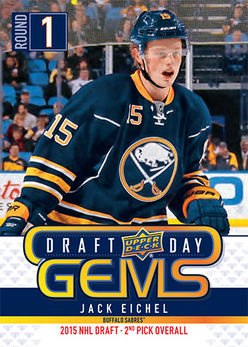 2019 upper deck nhl draft gems promotional set jack eichel