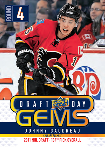 2019 upper deck nhl draft gems promotional set johnny gaudreau