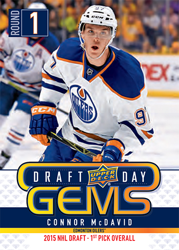 2019 upper deck nhl draft gems promotional set connor mcdavid