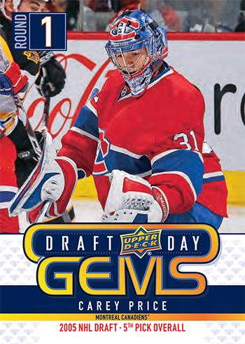 2019 upper deck nhl draft gems promotional set carey price