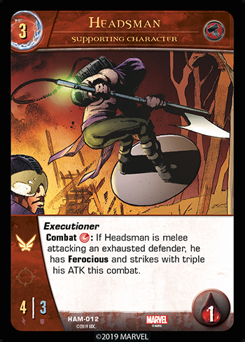 Vs System 2PCG Hammer Supporting Character Headsman