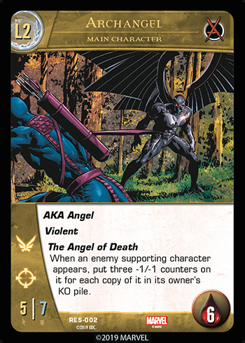 VS System 2PCG The Resistance Main Character Archangel Level 2