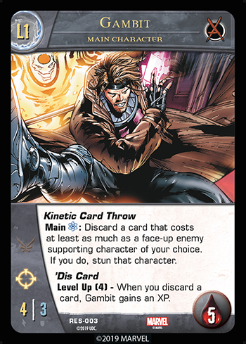 Vs. System 2PCG The Resistance Main Character Gambit Level 1