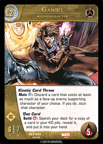 Vs. System 2PCG The Resistance Main Character Gambit Level 2