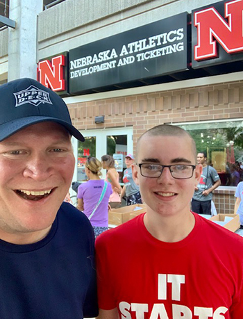 Most college kids aren't even up at 7:00 a.m. in the summer, but on this fateful Sunday morning in Lincoln, the University of Nebraska Football team were all on site in their jerseys with smiles on their faces engaging with fans.