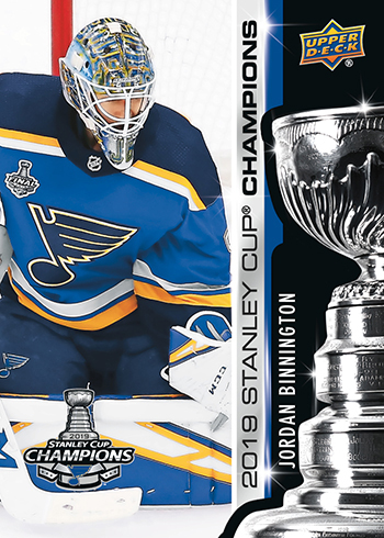 2019 upper deck stanley cup champion jordan binnington card