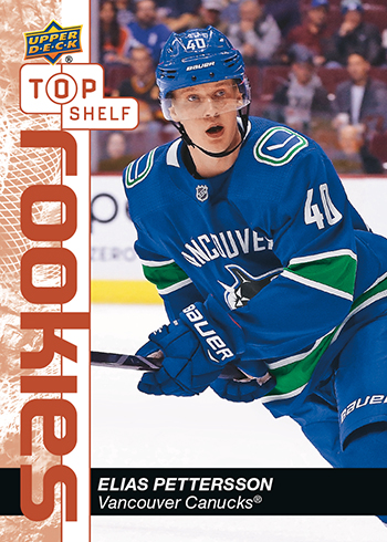 upper deck elias pettersson top shelf rookie nscc