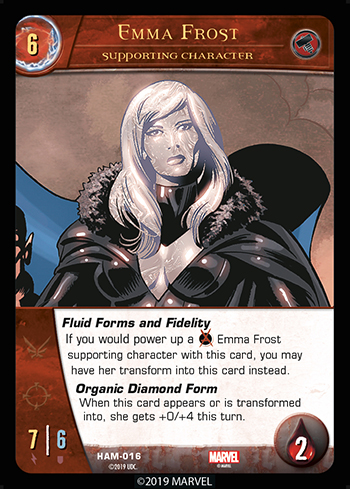 Vs System 2PCG Supporting Character Emma Frost
