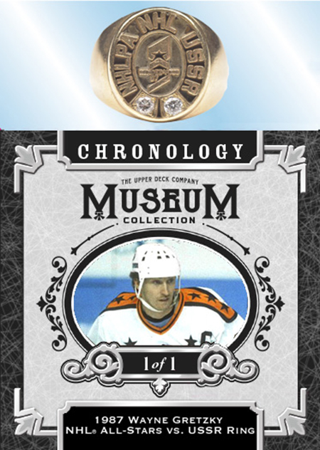 upper deck chronology wayne gretzky diamond gold ring card