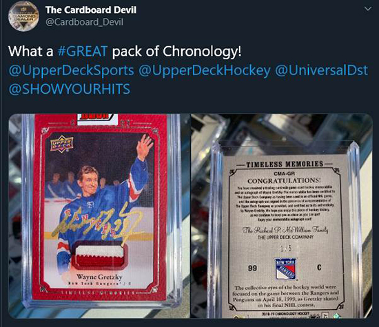 2019 nhl chronology upper deck collect alumni association collect