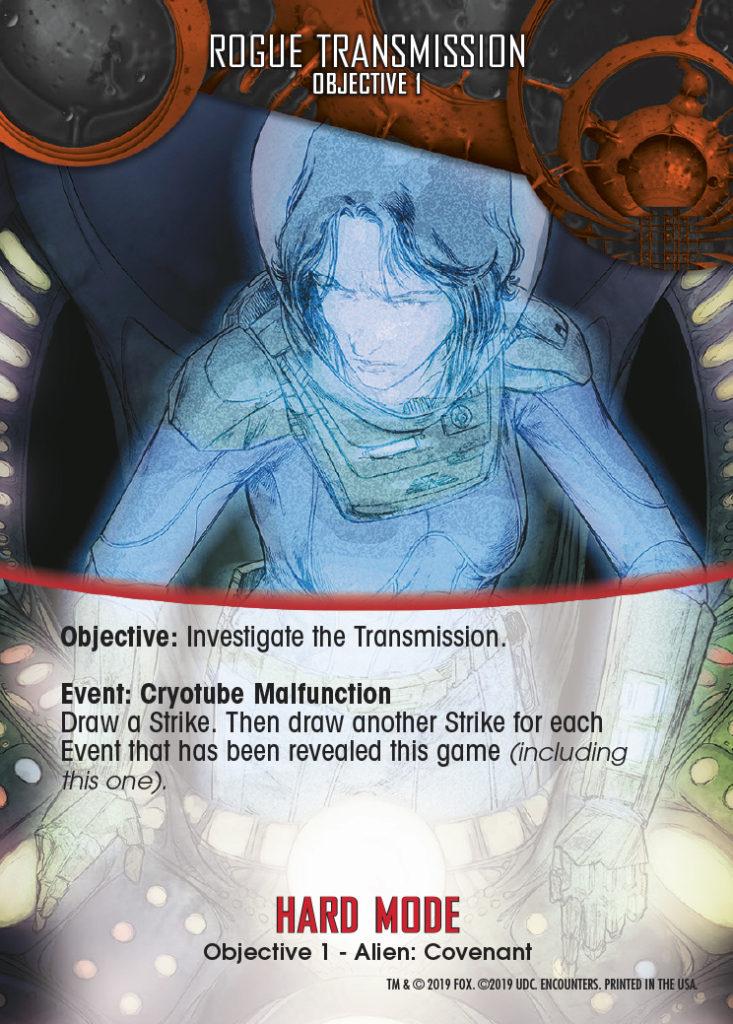 Legendary Encounters Alien Covenant Objective 1 Rogue Transmission