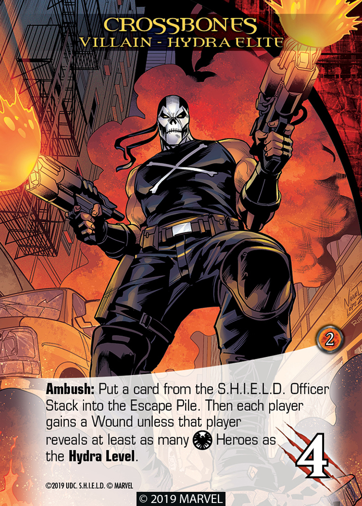 Legendary Shield Villains Crossbones Hydra Elite